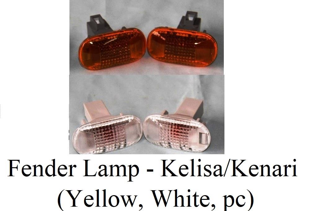 Kelisa / Kenari Fender Lamp White or Orange (1 set 2 pcs)