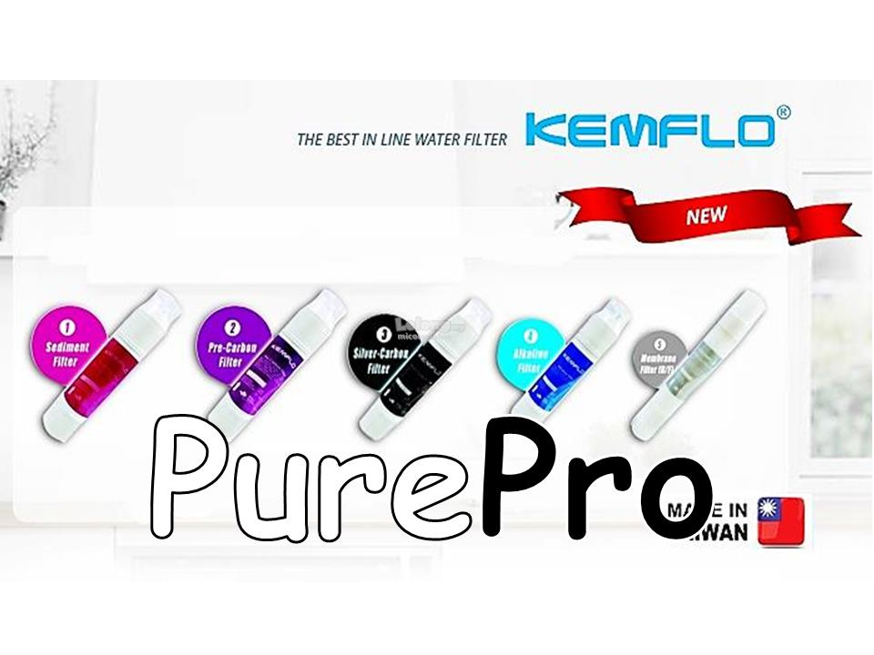 KEMFLO PP4 Alkaline Water Dispenser Filter 4 Stage Purifier Filter