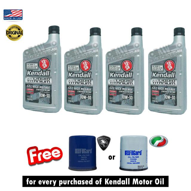 KENDALL ENGINE MOTOR OIL GT-1 MAX 10W30 FS 4 x 1 quart MADE IN USA