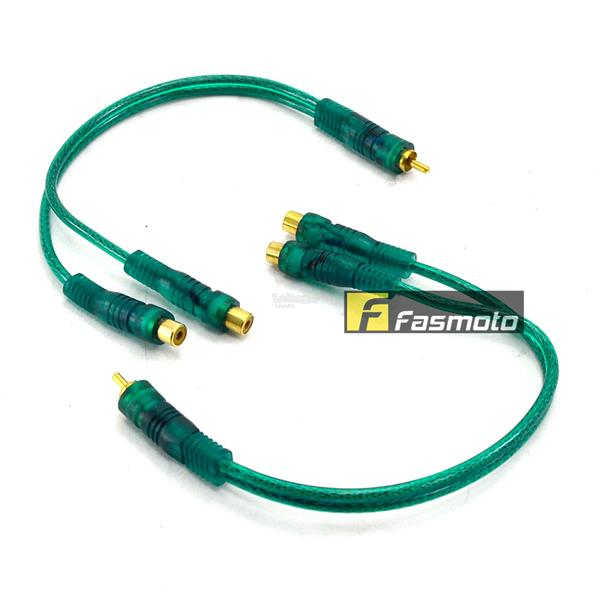 Kennon SX1M2FRC 1 Male to 2 Female RCA Y-Splitter Cable 0.3 Meters