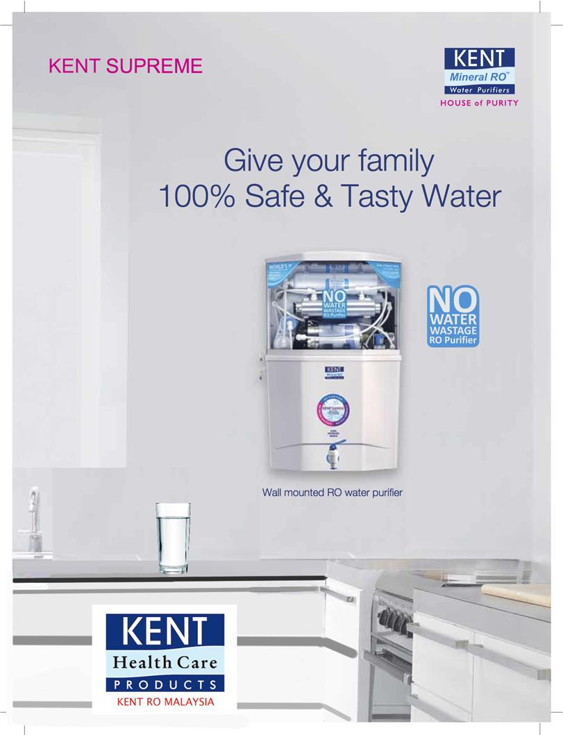 Kent Supreme Reverse Osmosis Water Purifier With Mineral RO+UV+UF