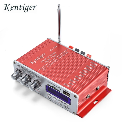 Kentiger HY - 504 HiFi 4-channel Stereo Audio Remote Control Amplifier