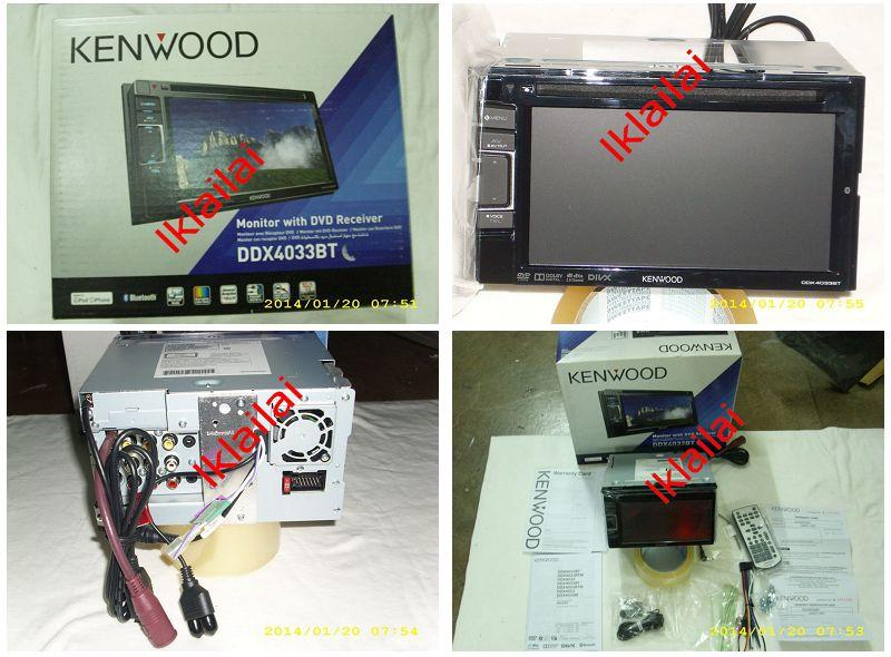 Kenwood DDX-4033BT Bluetooth 6 1' Wide VGA Double Din DVD Player Touch