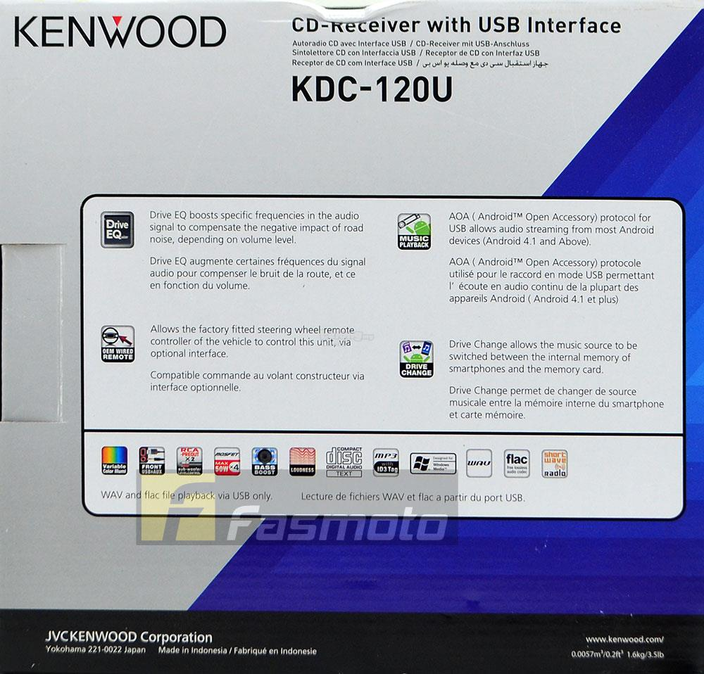 Kenwood KDC-120U Single DIN USB CD FM AM Shortwave Car Radio Receiver