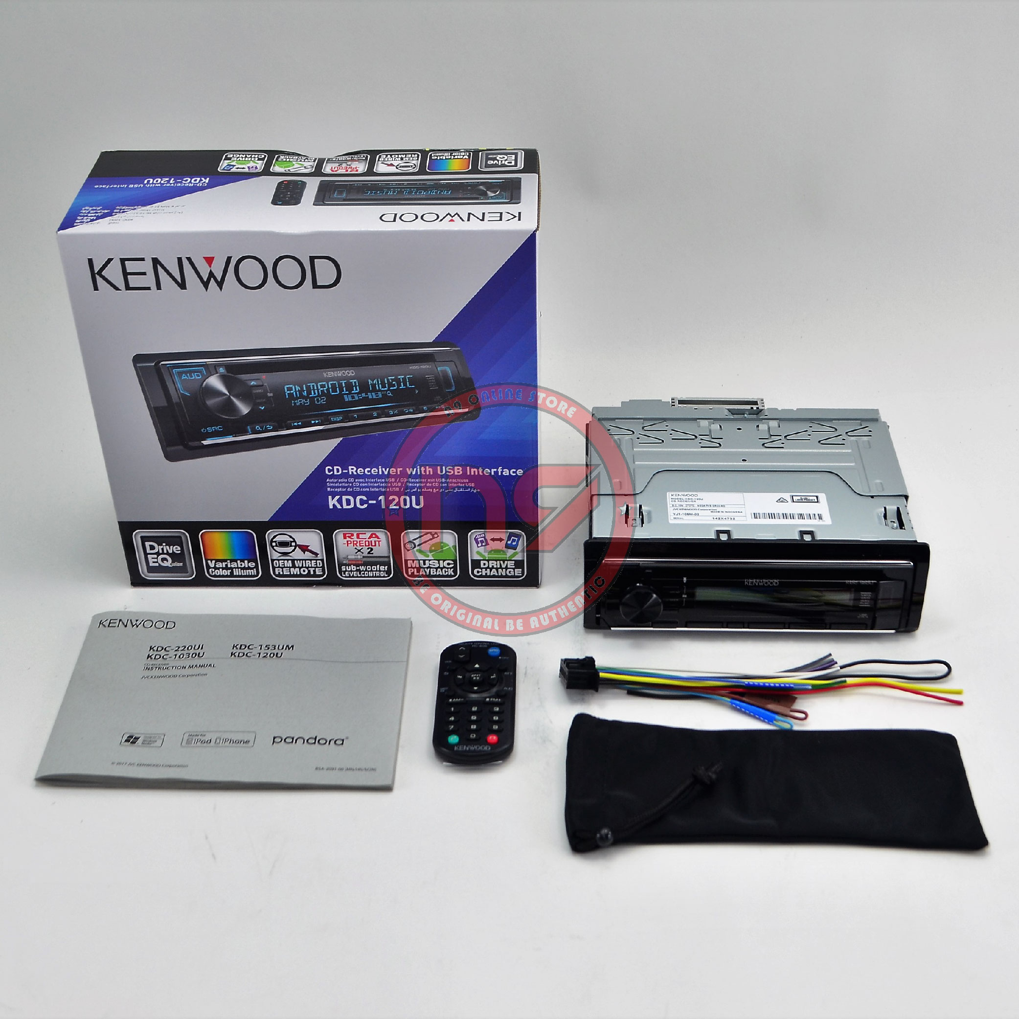 Kenwood KDC-120U USB / CD Car Stere (end 8/25/2020 11:03 AM)