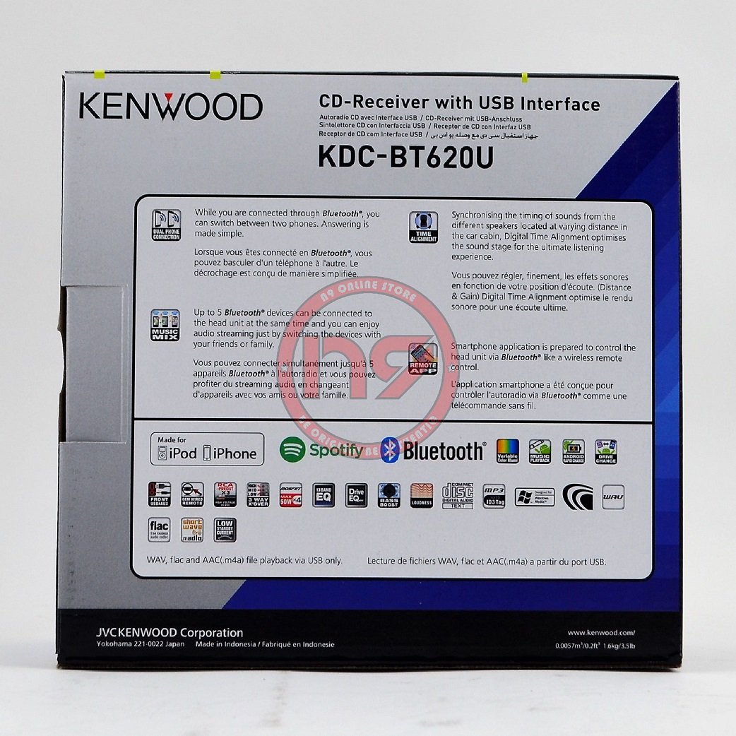 KENWOOD KDC-BT620U Built-In Bluetoot (end 8/17/2020 4:32 PM)