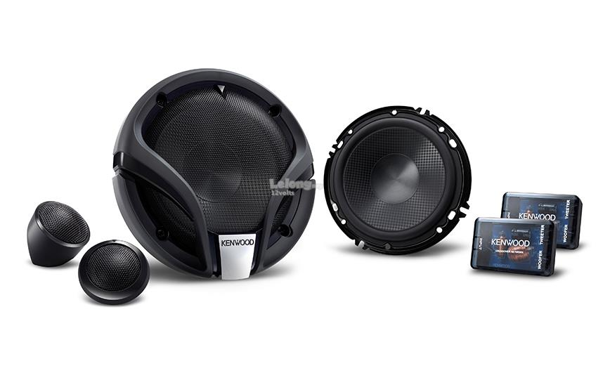 KENWOOD KFC-M614P 6-1/2 inch Component Speakers 65W RMS Dome Tweeter