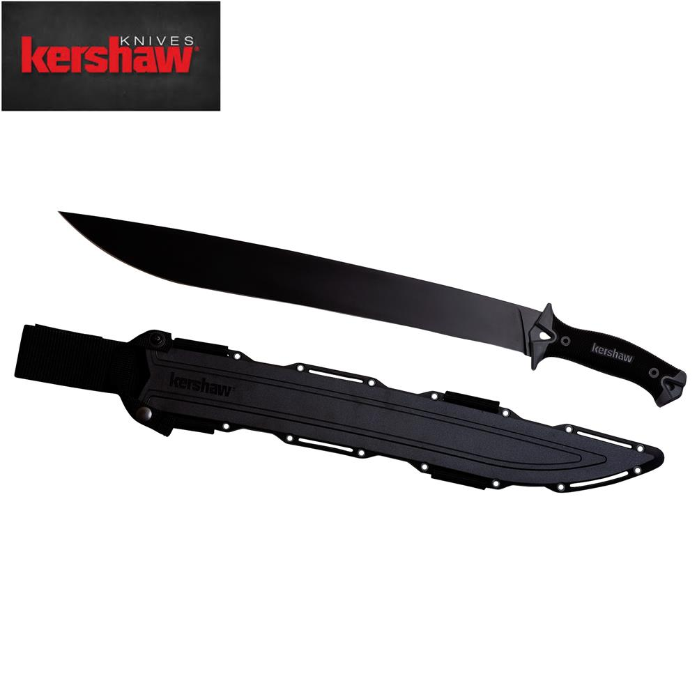 Kershaw Camp 18 Camp Machete 65MN Steel Fixed Blade with Sheath