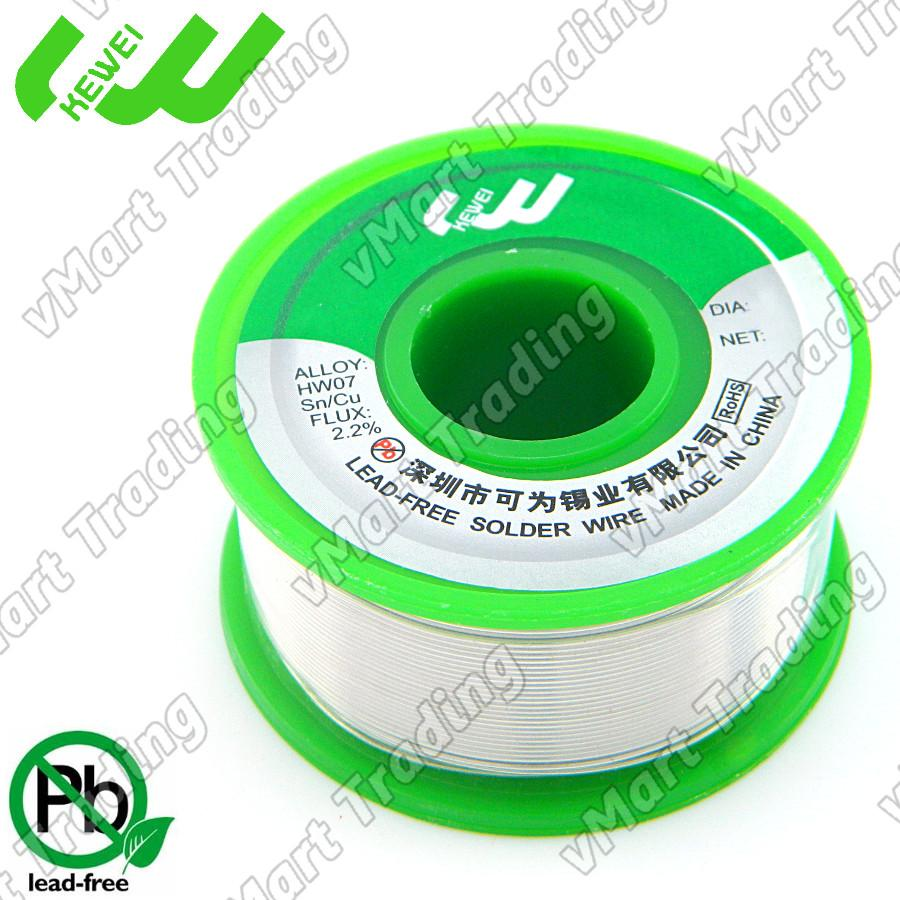 KEWEI Lead-Free Sn99.3Cu0.7 Solder Wire 0.6mm 100g