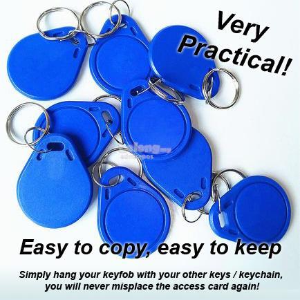 Key fob keychain 13 56Mhz RFID IC Type A Writable Copy Clone Duplicate