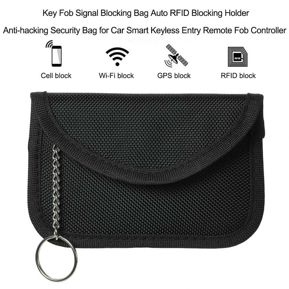 Key Fob Signal Blocking Bag Auto RFID Blocking Holder Anti-hacking