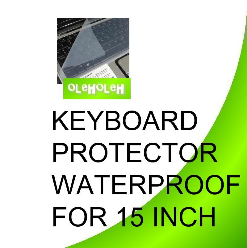 Keyboard Protector Waterproof 15' For Notebook Laptop