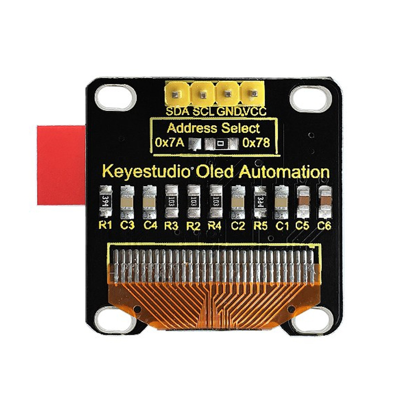 KEYESTUDIO 0.96 INCH 128 X 64 PIXELS OLED DISPLAY MODULE FOR ARDUINO