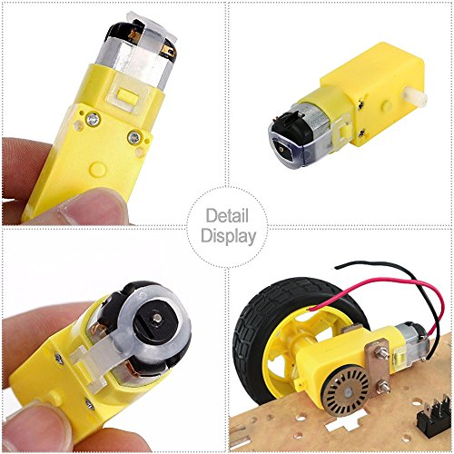 KEYESTUDIO DC Motor Wheel Parts Kit for Arduino Robot Smart Car, 4 x TT Motor