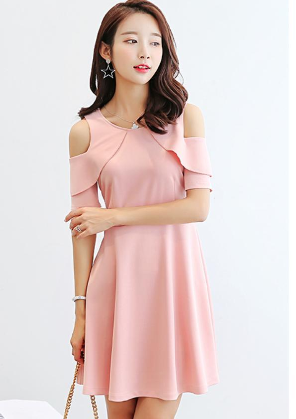 Keyhole Sleeves Dress (Code:T2037)