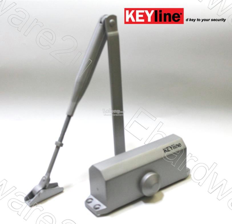 Keyline Non-Hold Open Hydraulic Door Closer 40-60kg (DC1303SIL)