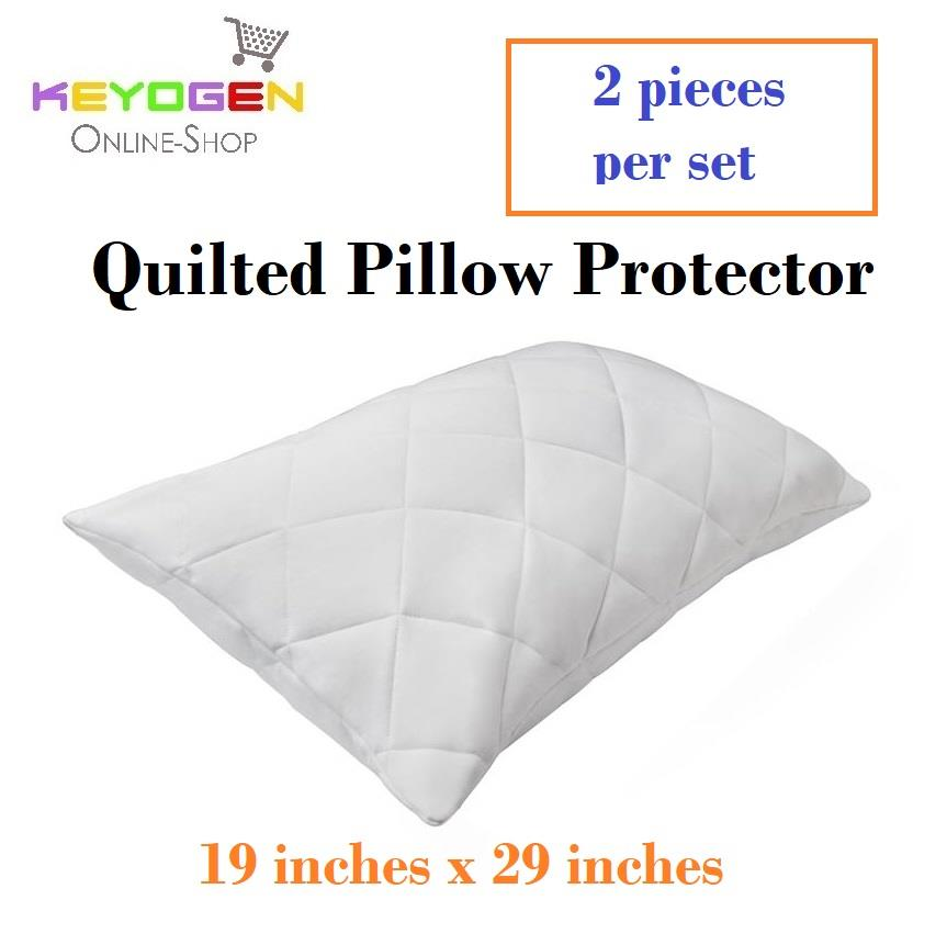 keyogen 2pcs quilted pillow protector combo set
