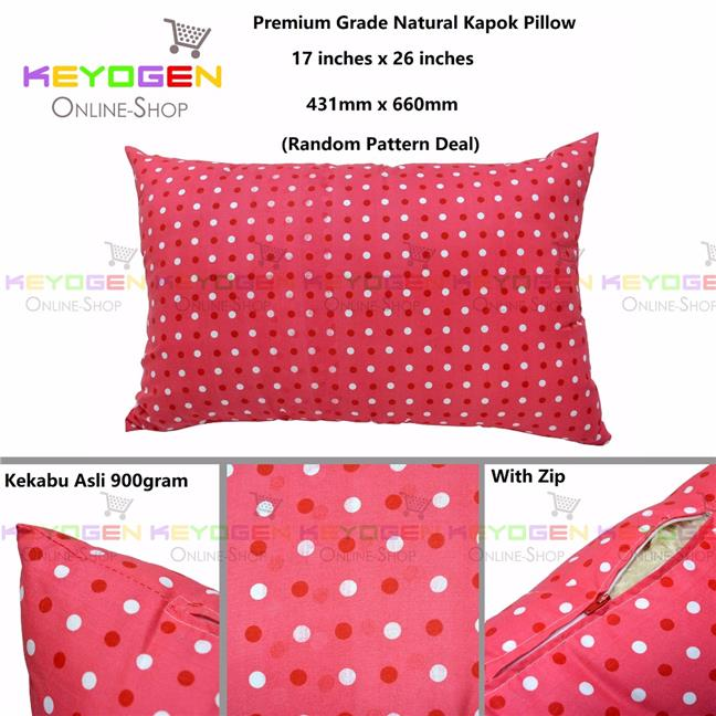 Keyogen Homie Premium Grade Quality 100% Natural Kapok Pillow