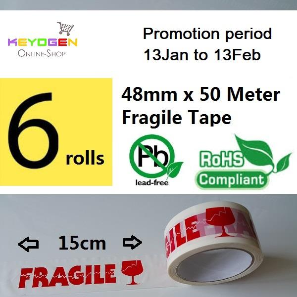 keyogen promo - 6 x Fragile tape 50M - 13Jan to 13Feb