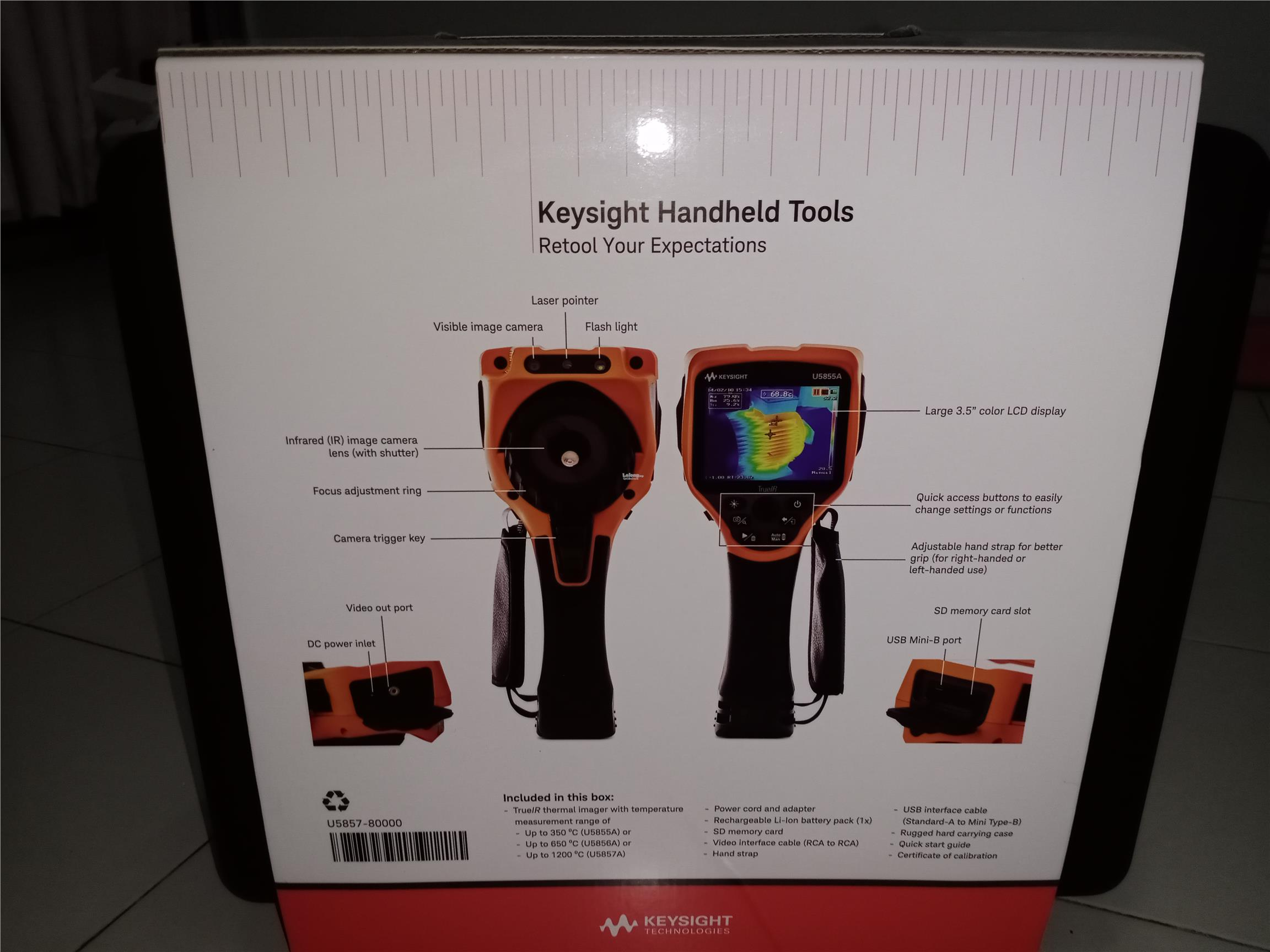 KEYSIGHT U5857A TrueIR Thermal Imager, 1200 deg C