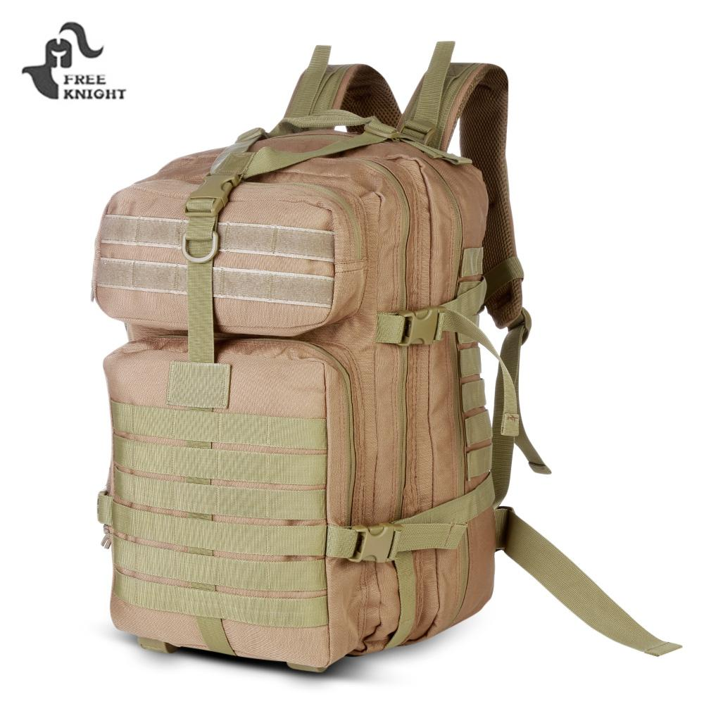 KHAKI Free Knight 40L Tactical Assault Pack Military Backpack for Outd..