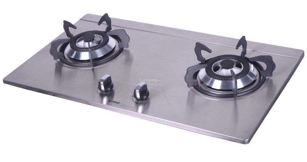 Khind 802s 2 Burner Stainless Steel Gas Stove