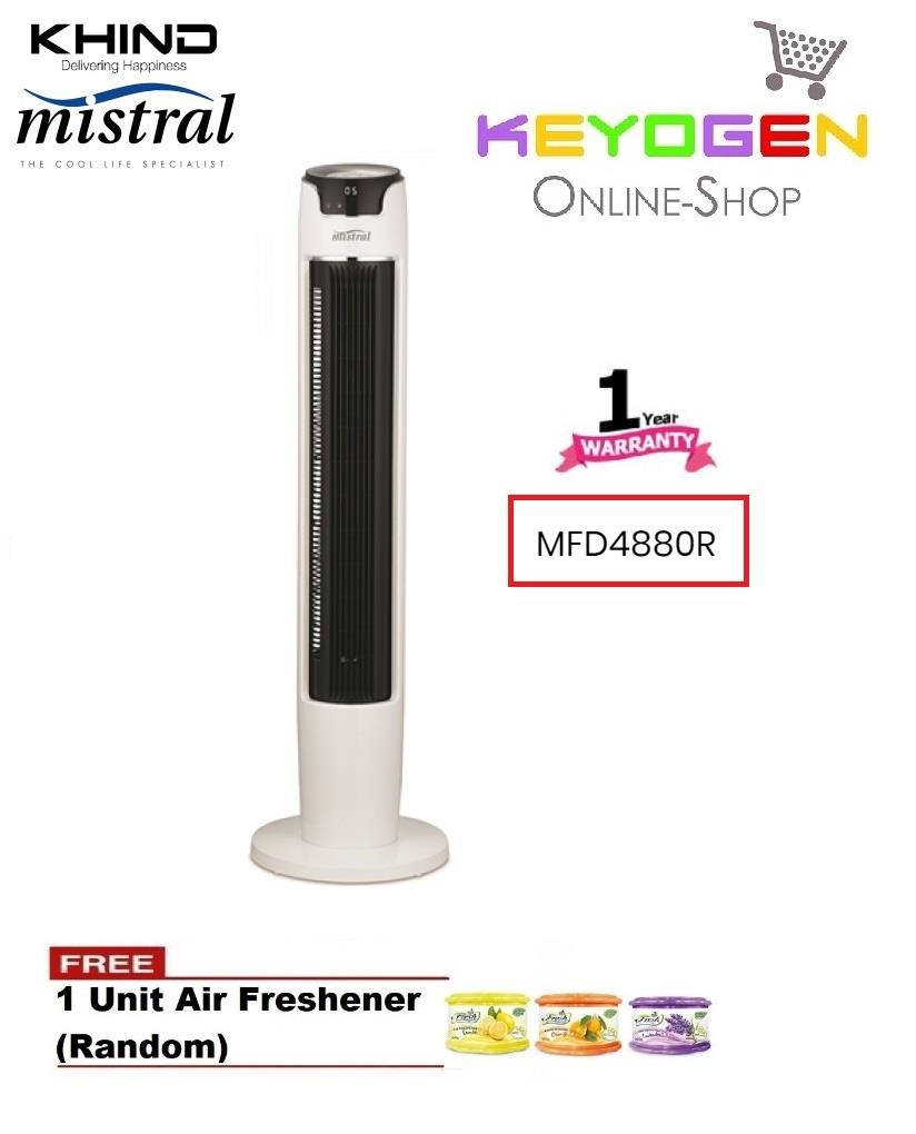 KHIND Mistral Remote Tower Fan MFD4880R -1 Year wrty