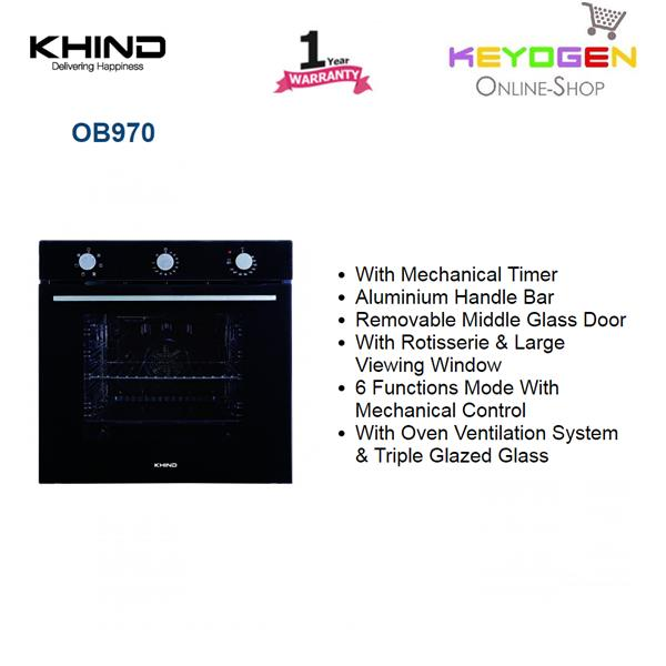 KHIND Oven 0B970 with 6 Functions Mode With Mechanical Control