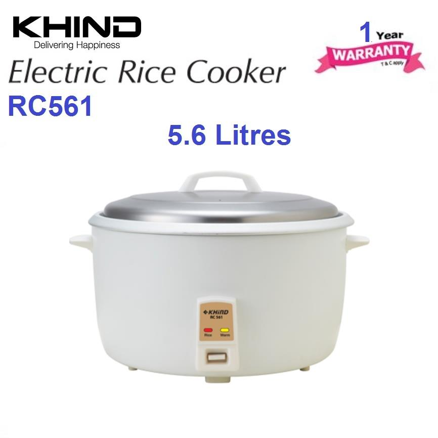 Khind Rice Cooker RC561 with Automatic Keep Warm Function
