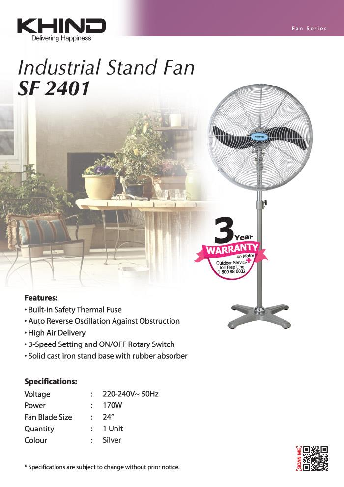 Khind SF2401 Industrial Stand Fan