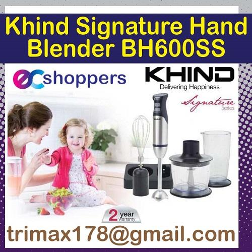 Khind Signature Product!! Khind Hand Blender BH 600SS 2 Years Warranty