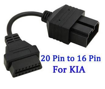 KIA 20 Pin to OBD OBD2 OBDII DLC 16 Pin. ‹ ›