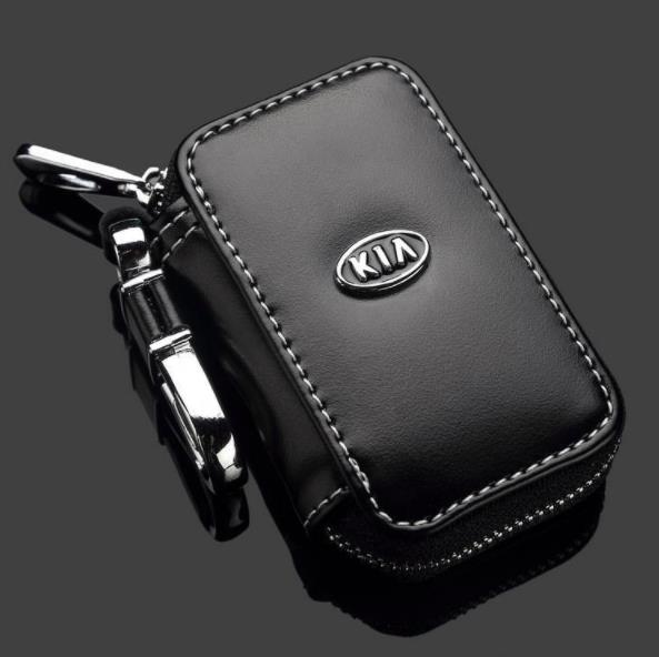 KIA Car Key Pouch / Key Chain / Key Holder Genuine Leather (Type D)