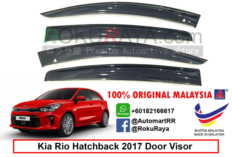 Kia Rio Hatchback Yb 4th Gen 2017 Ag Door Visor 12cm Width