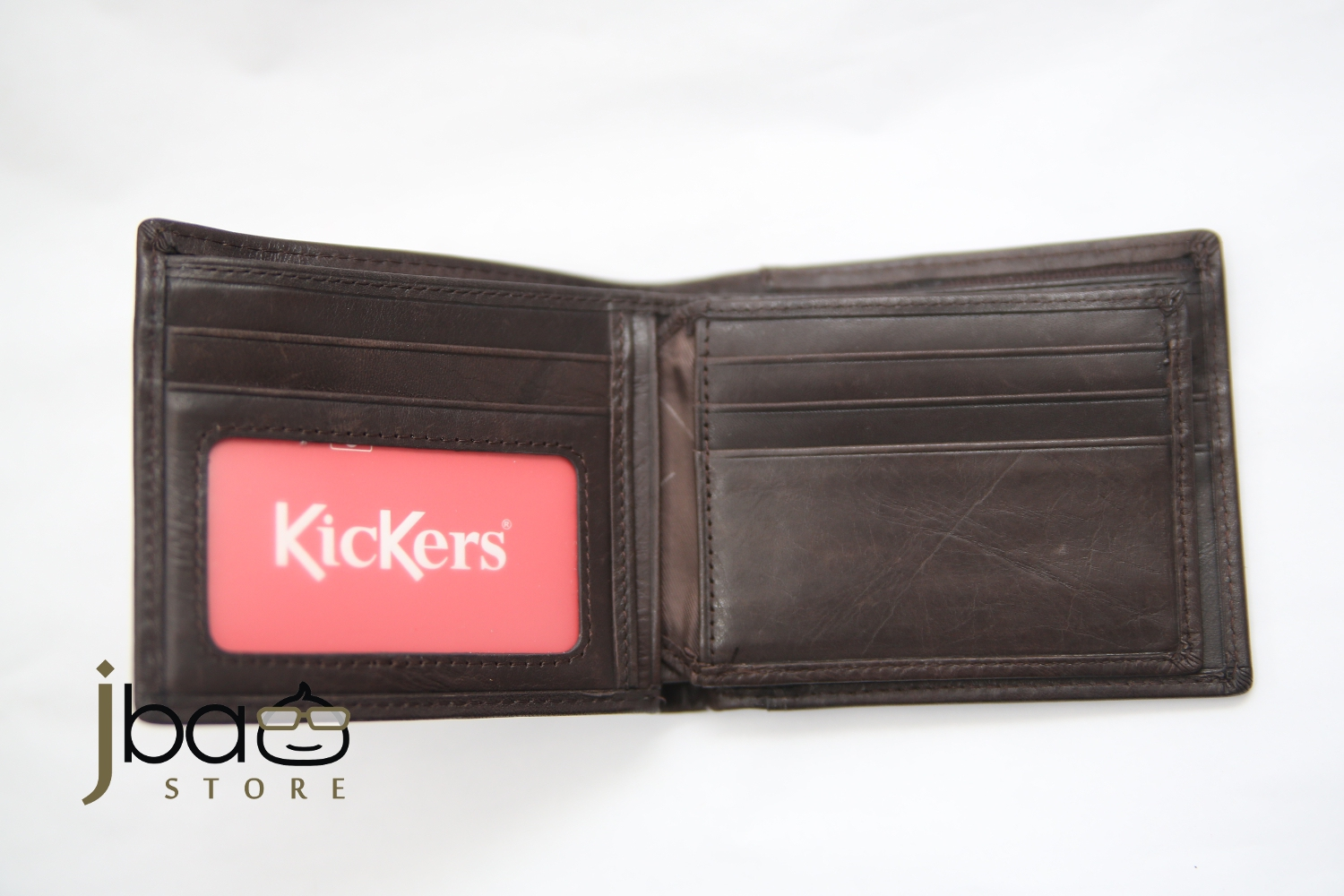 Kickers KDLG-M-50843 RFID SECURE Protection Men Genuine Leather Card Wallet Ch