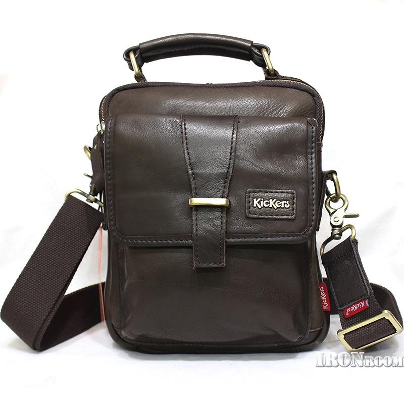 KicKers Men's Leather Messenger Bag IC89101-S