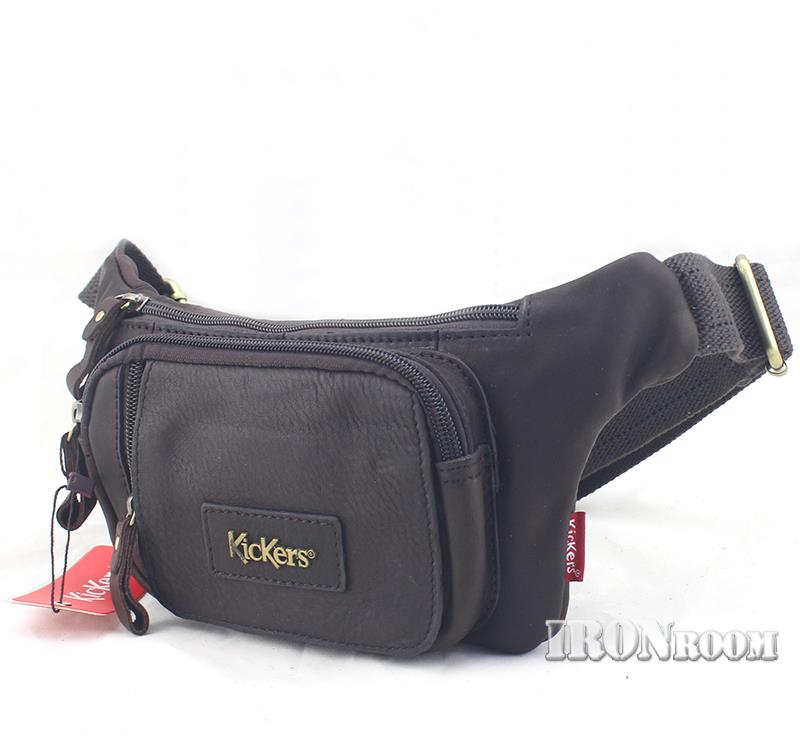 KicKers Men's Leather Waist Pouch KIC-W-88439