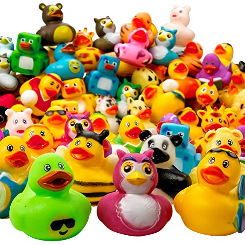 Kicko Assorted Rubber Duckies - 100 PC Bath Floater - Baby Showers Accessories