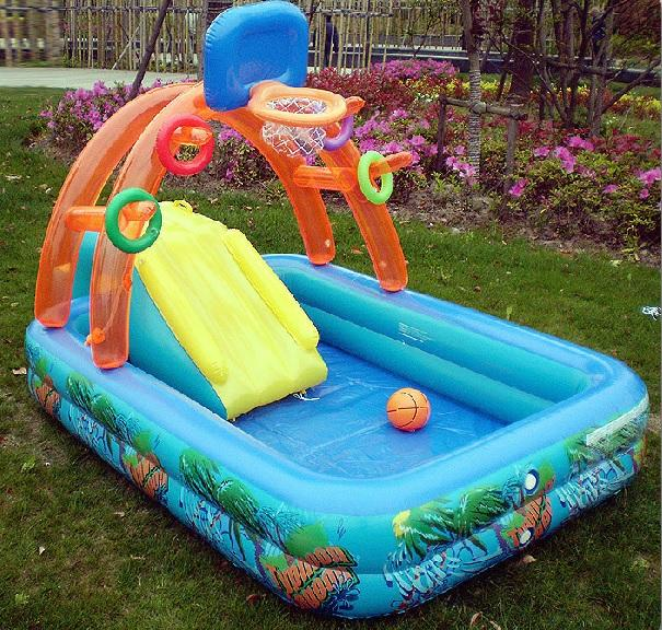 Kid Inflatable Splash Slide Swimming Pool