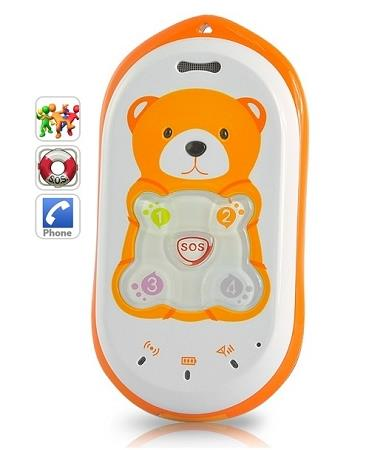 Kid's Mobile Phone + GPS Tracking + Voice Monitoring (WGPS-05C).