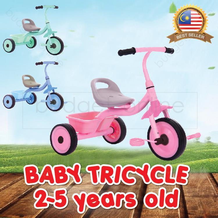 Kid Tricycle Trikes Bike Ride On Toy 3 Wheel Bell Basket 2-5 Years Old