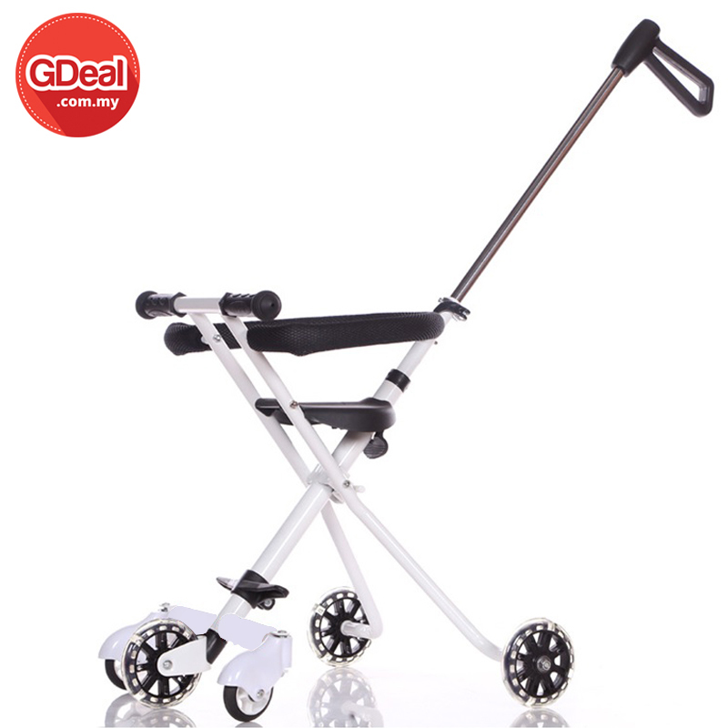 Kids 5 Wheels Magic Stroller Foldable Bike Trolley Safety Fence Wheel