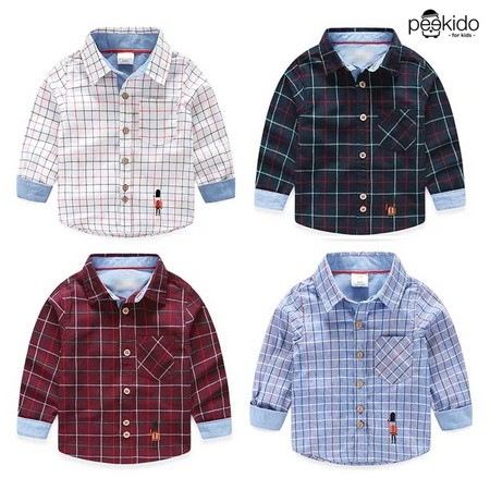 Kids Age 1  – 8 ~ Square Pattern Shirt ~ Pre-order
