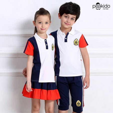 Kids Age 4  – 12  ¬ Badge Polo Tee  & Pants / Skirt ~ Pre-Order