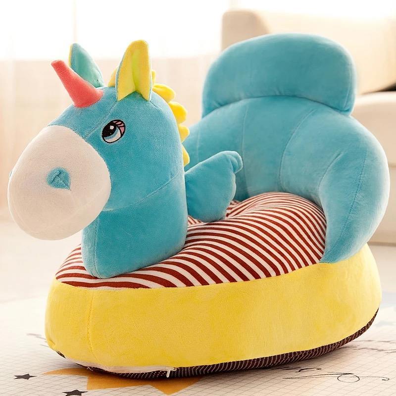 Kids Baby Sofa Unicorn Blue
