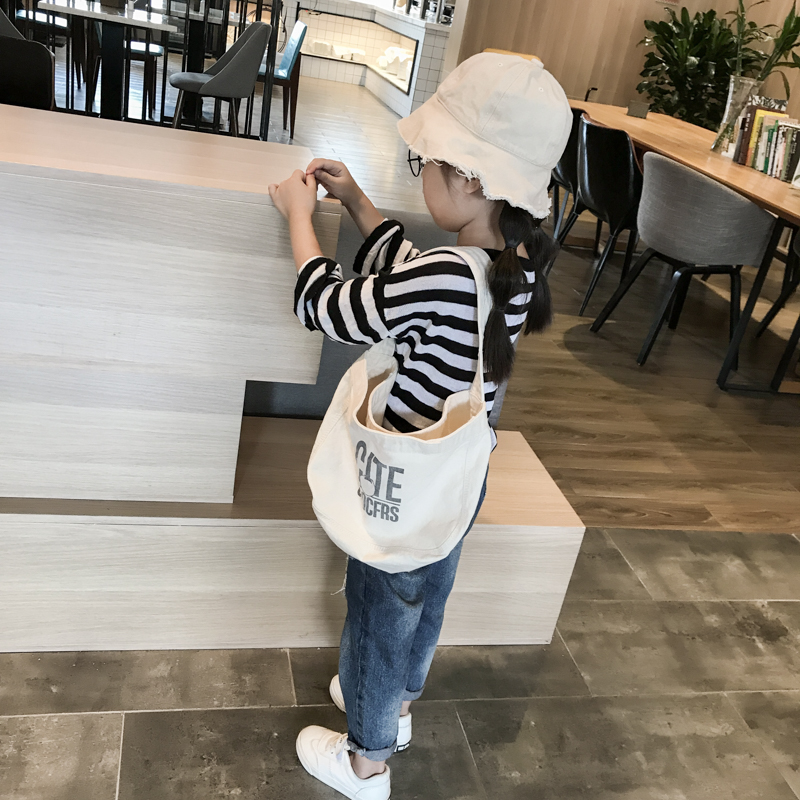 Kids Bags Girls Children Canvas Tote Bag Shoulder Casual Messenger Cut