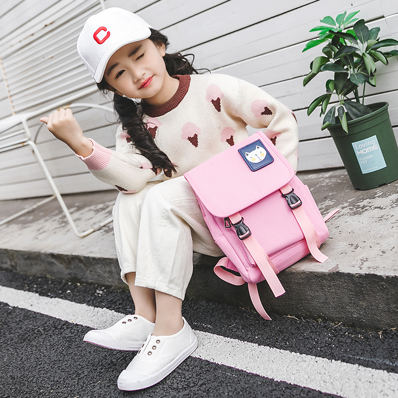 Kids Bags Girls Children's Canvas Backpack Toddlers Cute Big Travel Sc