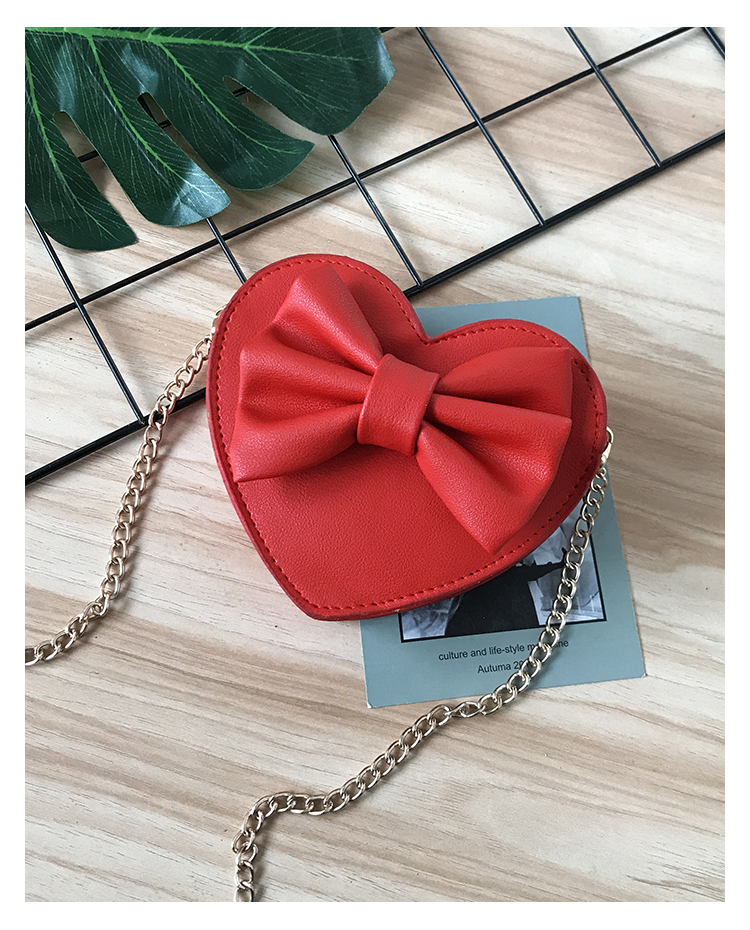 Kids Bags Girls Children's Heart Shape Style Shoulder Messenger Chain