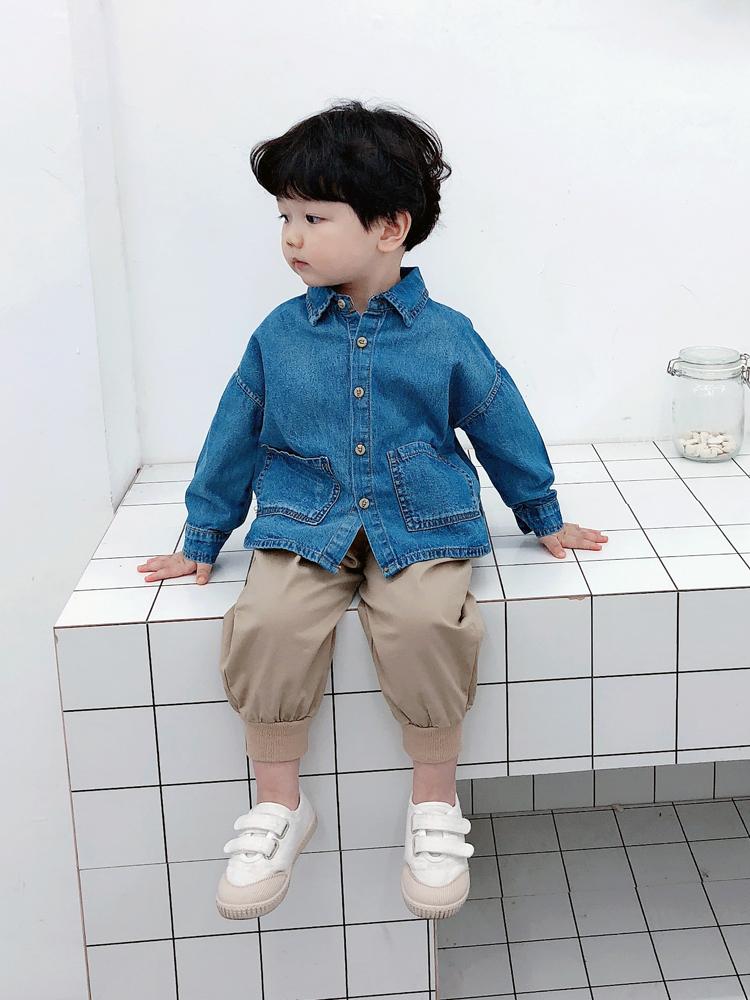 7b606e261 Kids Boys Tops Boys Denim Shirt Korean Spring Children's Cute Kids Clo