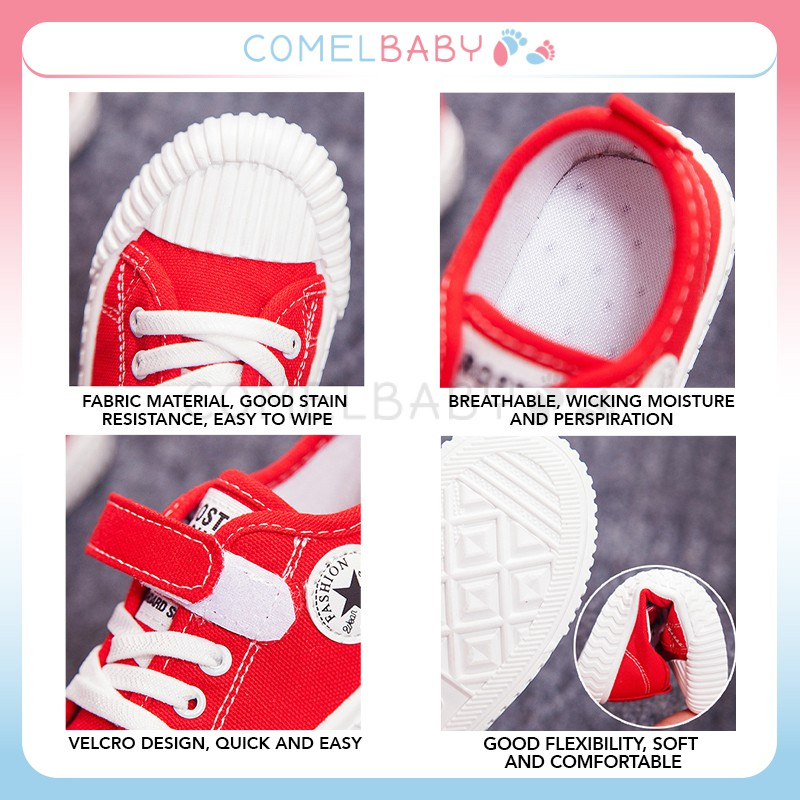 Kids Canvas Shoes Casual Comfortable Fashion Sneakers | - [C - RED,31]